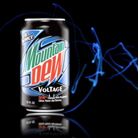 Soda can of Mountain Dew Voltage