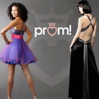 Female JCPenney models in prom attire
