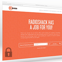 Screenshot of JobsAtRadioShack.com