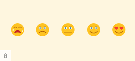 Emojis ranging from crying face to heart eyed face.